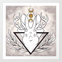 Lunar Rabbit / Jackalope Kunstdrucke