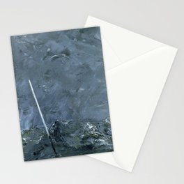 Minimalist Ocean Paintng Stationery Cards