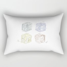Boxed Mimes Rectangular Pillow