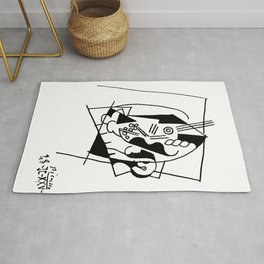 Picasso Guitare et Boîte (Guitar and Box) 1925 Artwork Reproduction Rug