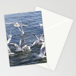 seagull flying at sea Stationery Cards