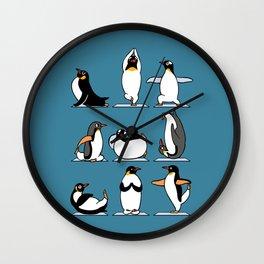 Penguin Yoga Wall Clock