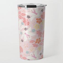 Pink Japanese pond florals Travel Mug