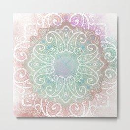 paisley wheel play in opal Metal Print