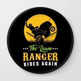 The Lawn Ranger Rides Again - Gardening T-Shirt Wall Clock
