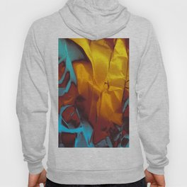 Cruising to Calisto. Orange and Teal Abstract. Hoody