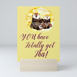 Motivation Otters Mini Art Print