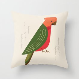 Australian King Parrot, Bird of Australia Throw Pillow