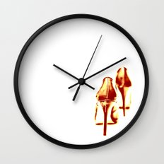 Red, red hot (down) Wall Clock