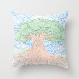 Roots and Leaves Throw Pillow