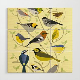 New World Warblers 2 Wood Wall Art
