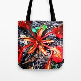 Flor Rojo Tote Bag