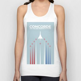 Concorde And The Red Arrows Flyover Unisex Tank Top