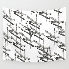 Bars with Drawings Wall Tapestry