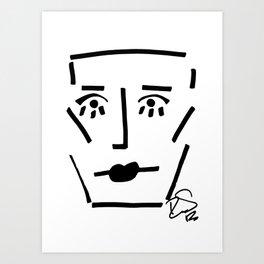 Faire Visage No 41 Art Print
