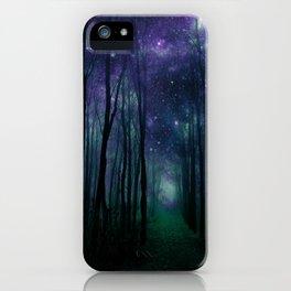 Fantasy Pathway Indigo Violet Teal iPhone Case