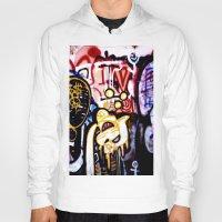 graffiti Hoodies featuring Graffiti by Ian Bevington