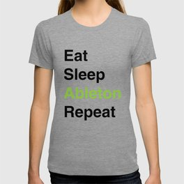 Eat Sleep Ableton Repeat (Black) T-shirt