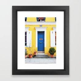 58. Yellow House, Paris Framed Art Print