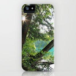 Aqua Blue Lake and Trees iPhone Case