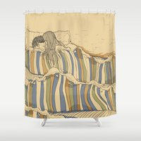 tumblr Shower Curtains featuring Ocean of love by Huebucket