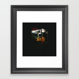 Phone Booth Framed Art Print