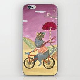 Riding the bike. iPhone Skin