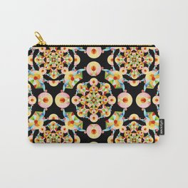 Pastel Carousel Black Dot Pattern Carry-All Pouch