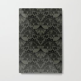 Stegosaurus Lace - Black / Grey - Metal Print