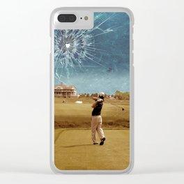 Broken Glass Sky Clear iPhone Case