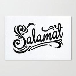 Salamat means Thank You! Canvas Print