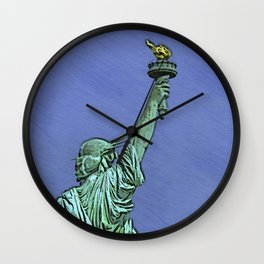 Lady Liberty #6 Wall Clock