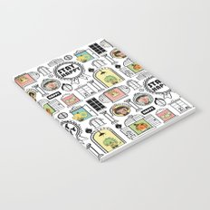 Pattern Stay Happy Animals Notebook