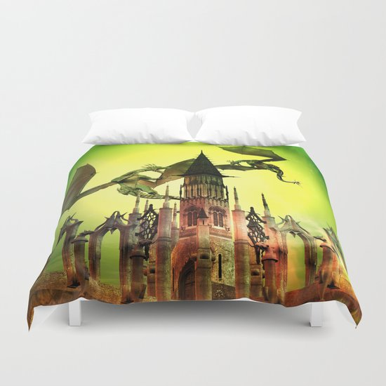Flying dragon  Duvet Cover