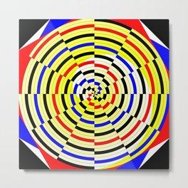 Yellow Spiral Metal Print