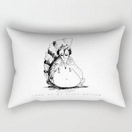 MIDNIGHT DOODLE BELLY BUTTON BEASTIE Rectangular Pillow