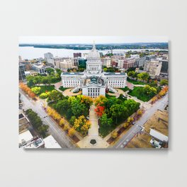 WI Capitol Square - Sept 2020 Metal Print