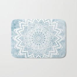 LIGHT BLUE MANDALA SAVANAH Bath Mat