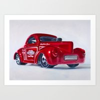 41 Willys Coupe Art Print