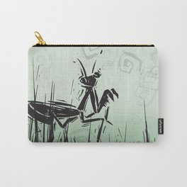 Praying Mantis by Kathy Morton Stanion Carry-All Pouch