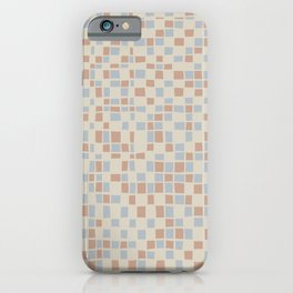 Mosaic pattern in pastel colors iPhone Case