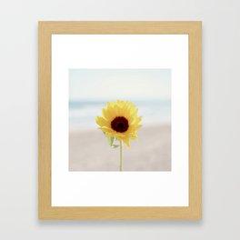 Daylight flower Framed Art Print