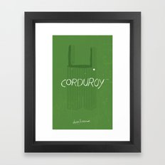 CORDUROY by Don Freeman : Book Cover Re-Design Framed Art Print