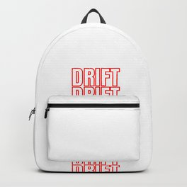 Drift Drifting Drifter Tuning Car Gift Backpack