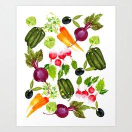 Mixed Vegetables Art Print