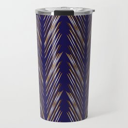 Navy Blue Wheat Grass Travel Mug