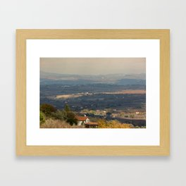Sunset Italian countryside landscape view Framed Art Print