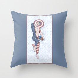 Steve Pinup Throw Pillow