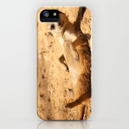 Meerkat Suricat suricatta Sunbathing #decor #society6 iPhone Case