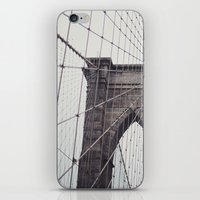 brooklyn bridge iPhone & iPod Skins featuring Brooklyn Bridge by Kameron Elisabeth
